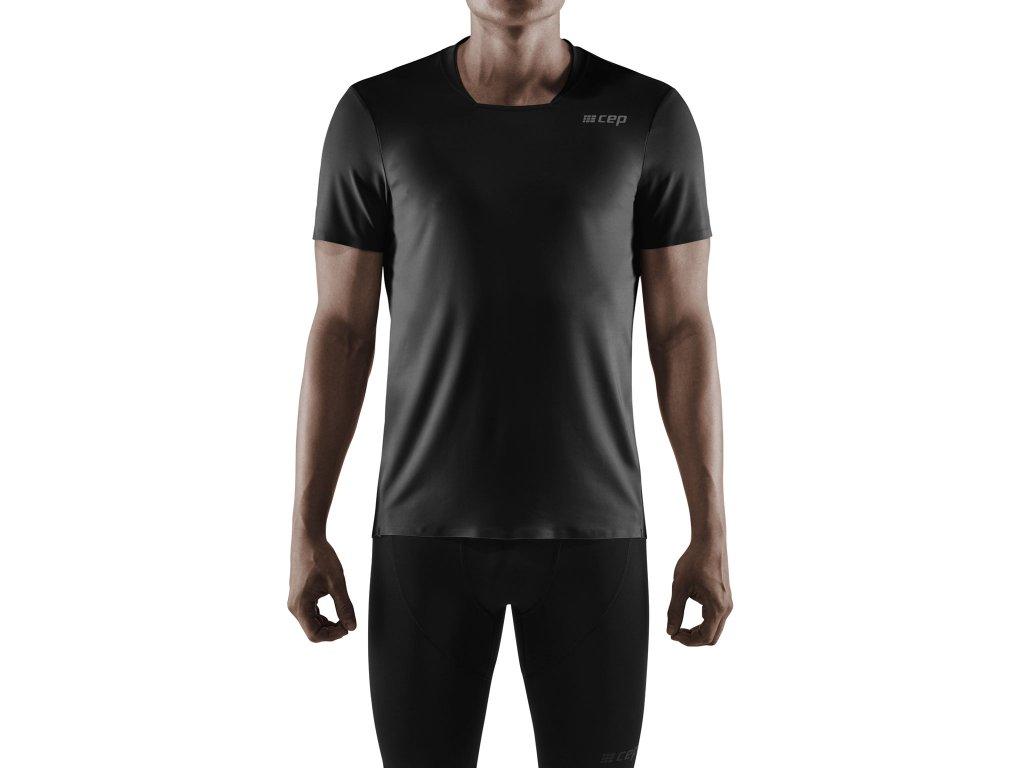 Run Shirt SS black m front model 1536x1536px