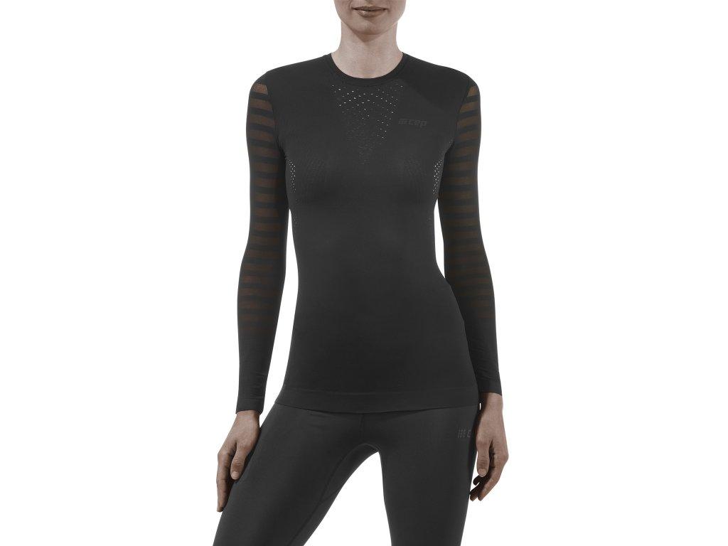 Run Ultralight Shirt LS black w front model 1536x1536px