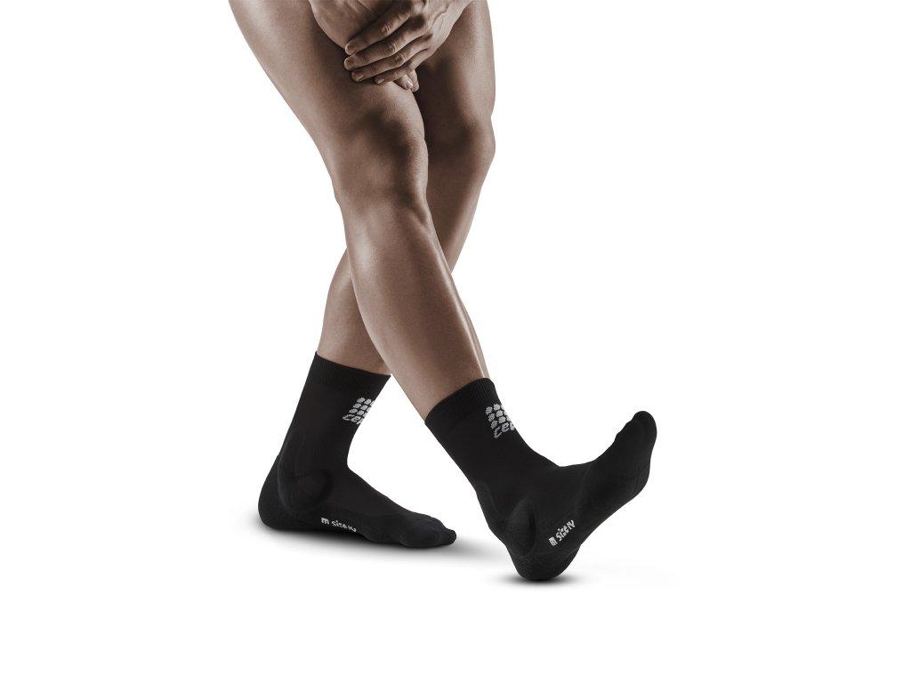 Ankle Support Short Socks black m front model 1536x1536px