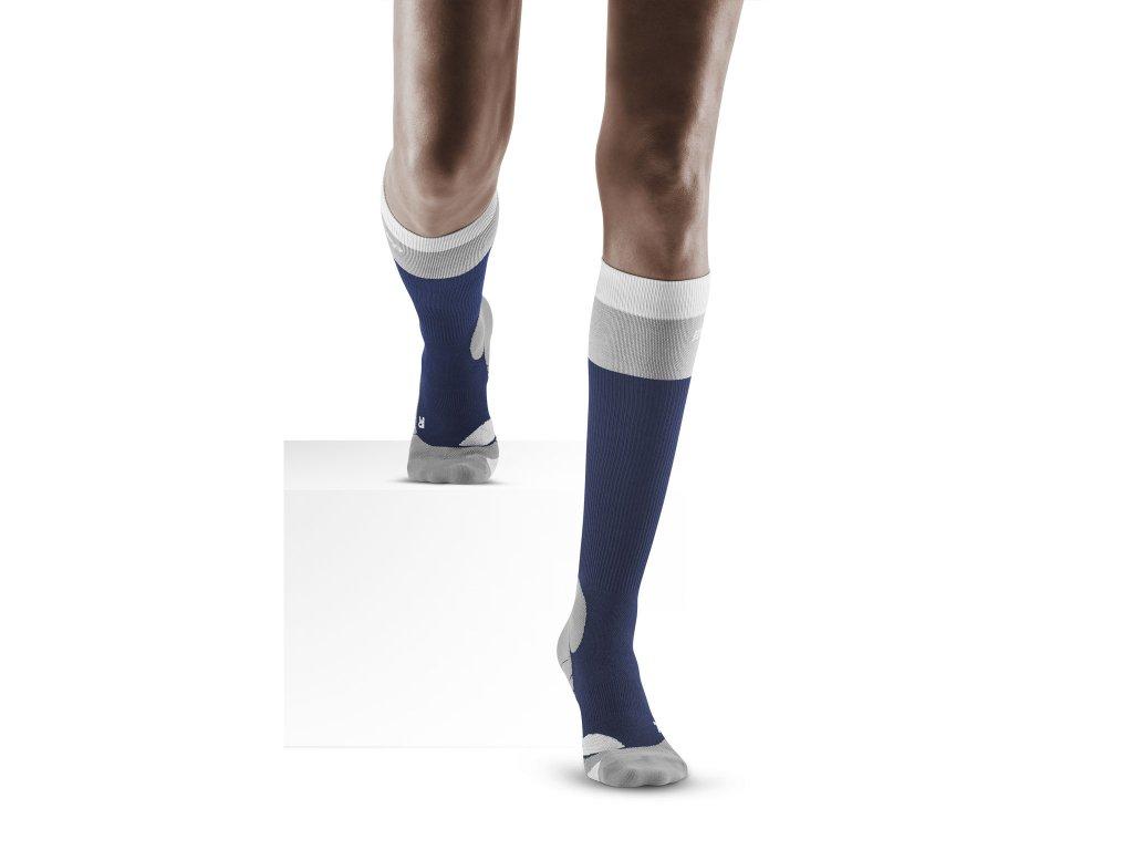 Hiking Light Merino Socks marineblue grey w front model 1536x1536px