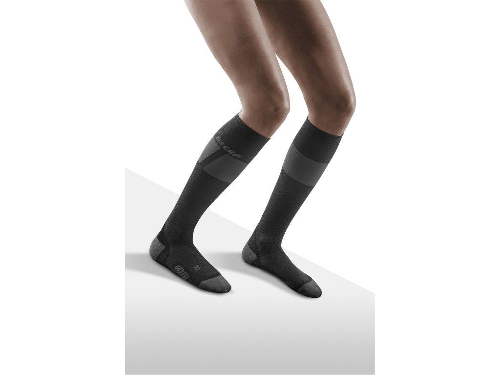 Ski Ultralight Socks black darkgrey w front model 1536x1536px