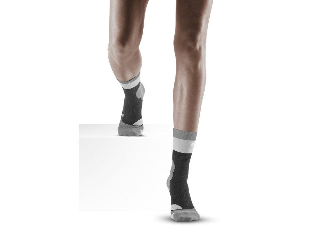 Hiking Light Merino Mid Cut Socks stonegrey grey w front model 1536x1536px