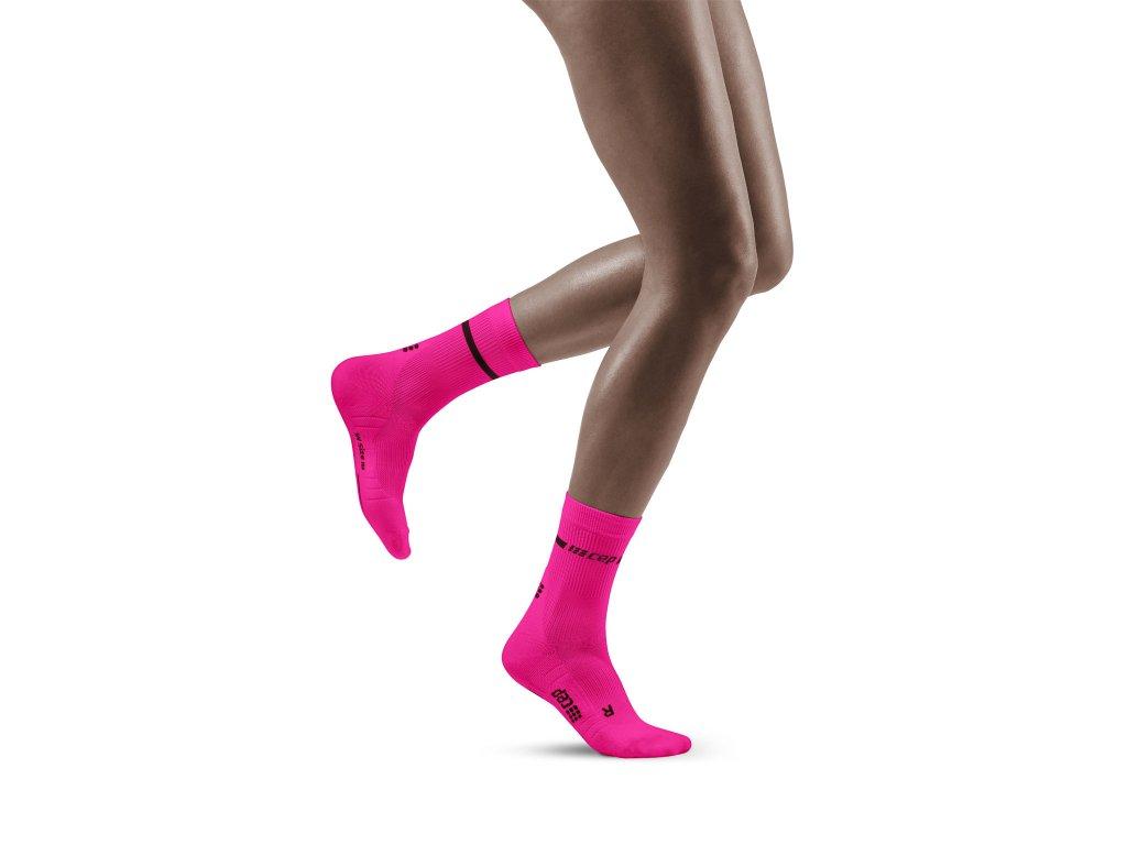 Neon Mid Cut Socks neonpink w front model 1536x1536px