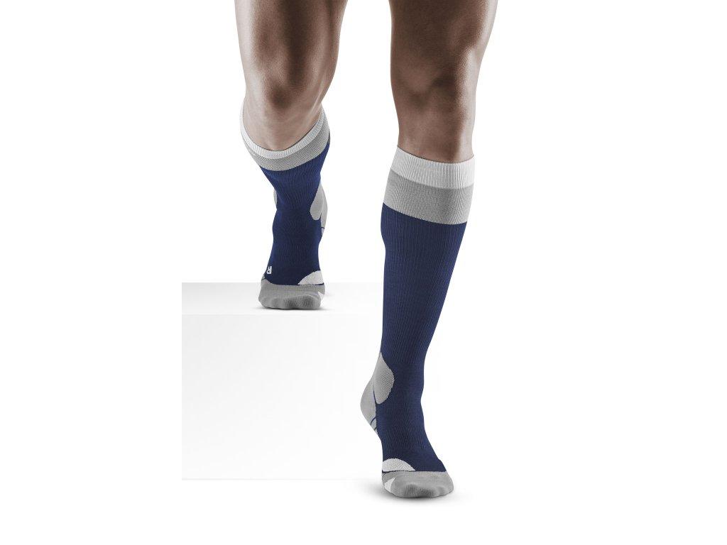 Hiking Light Merino Socks marineblue grey m front model 1536x1536px