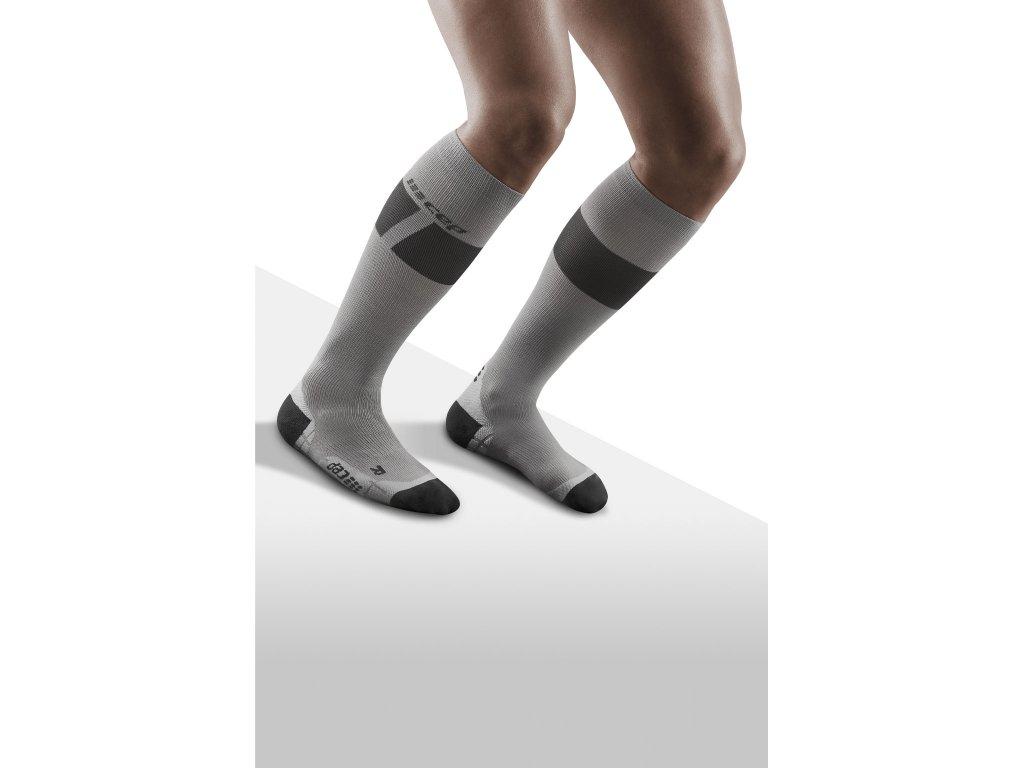 Ski Ultralight Socks grey darkgrey m front model 1536x1536px