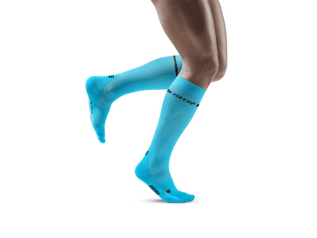 Neon Socks neonblue m front model 1536x1536px