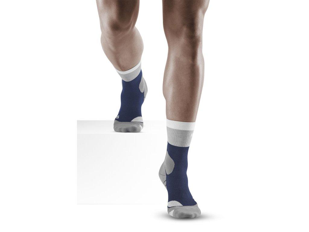 Hiking Light Merino Mid Cut Socks marineblue grey m front model 1536x1536px