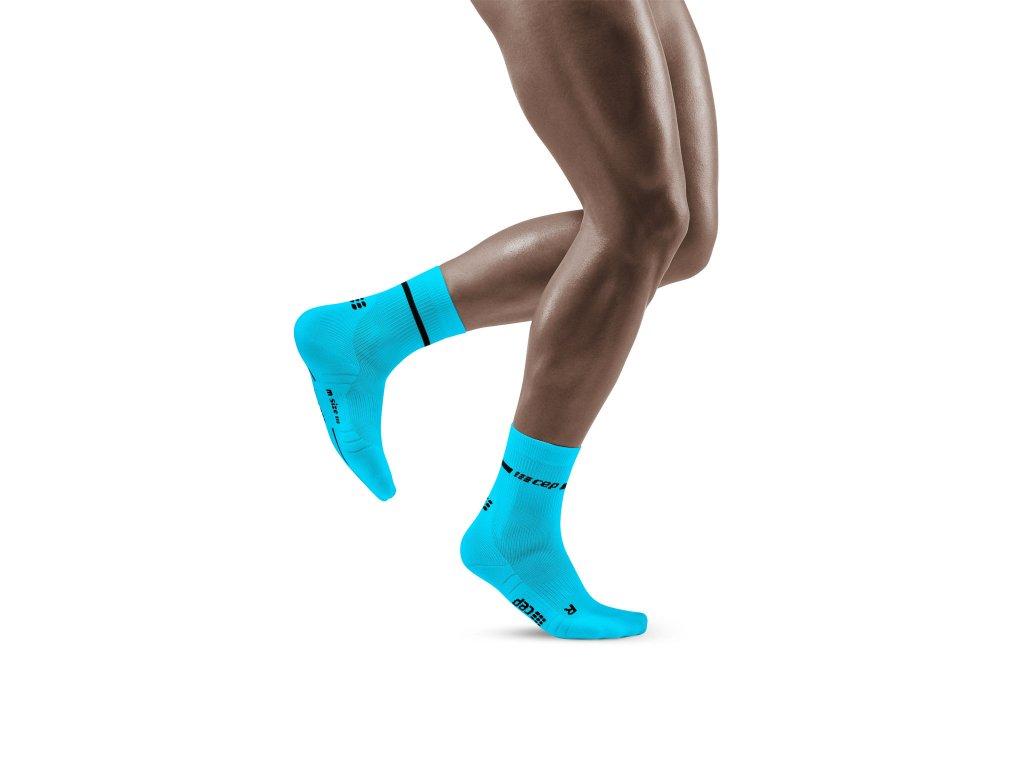 Neon Mid Cut Socks neonblue m front model 1536x1536px