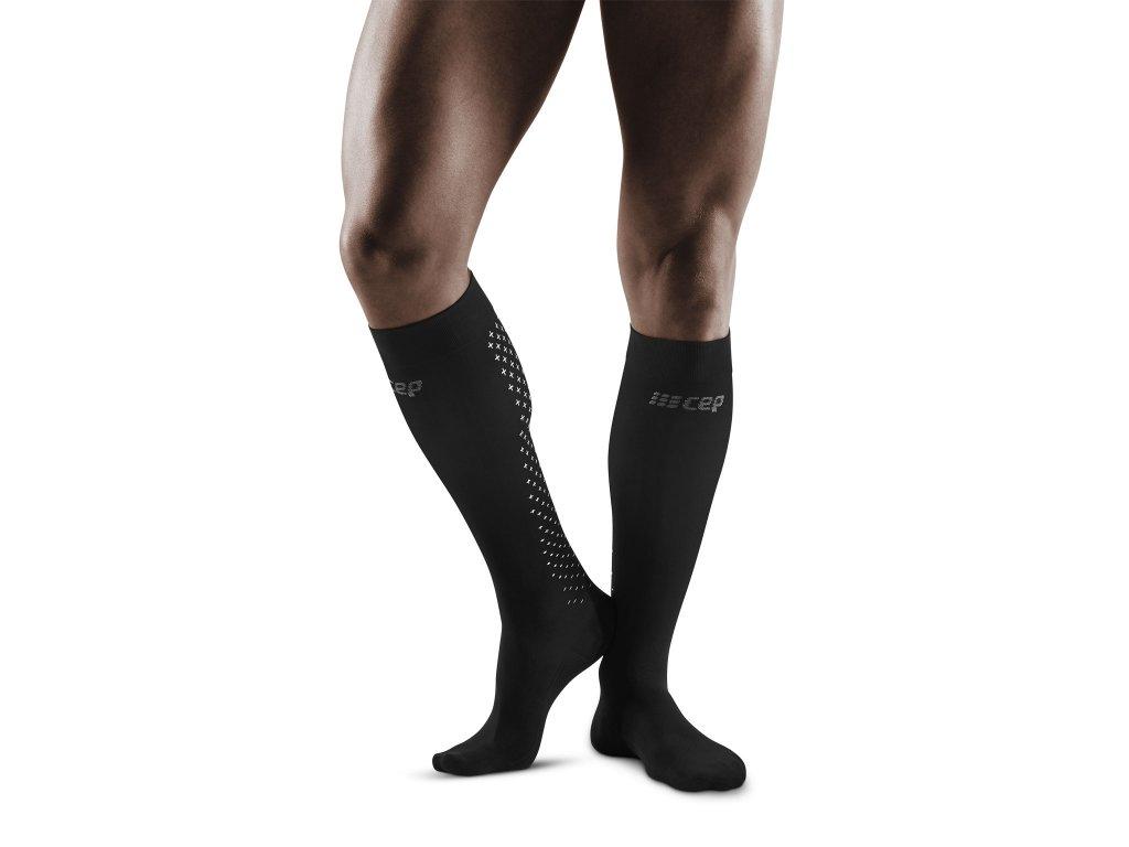 Recovery Pro Socks black m front model 1536x1536px