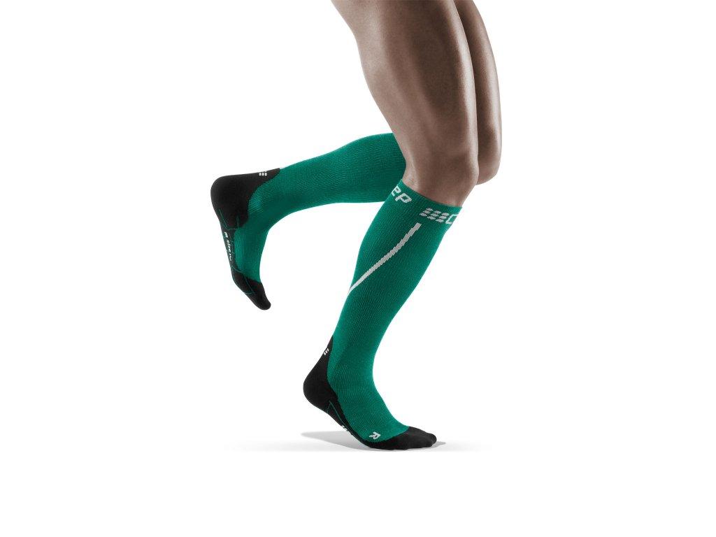 Winter Run Socks green black Winter Run Socks green black WP40MU w back model m front model 1536x1536px