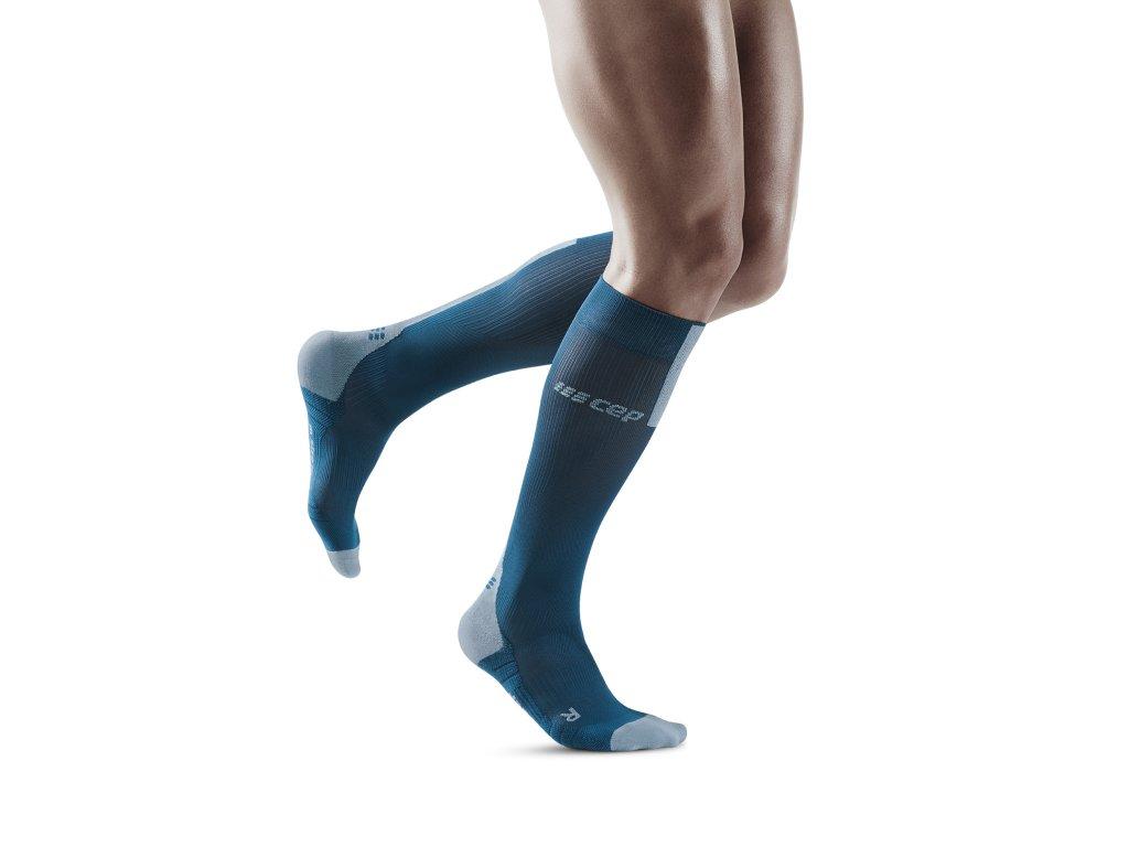 Run Compression Socks 3 0 blue grey m front model 1536x1536px