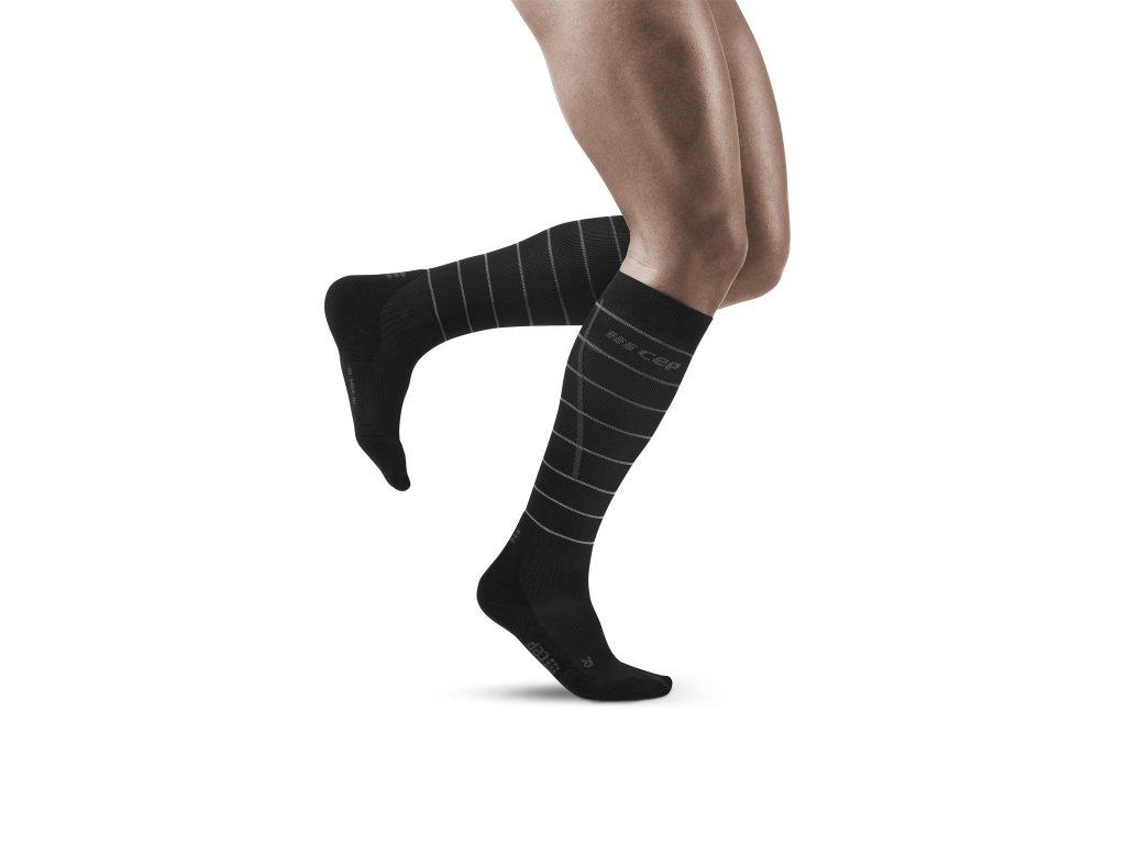 Reflective Socks black m front model 1536x1536px