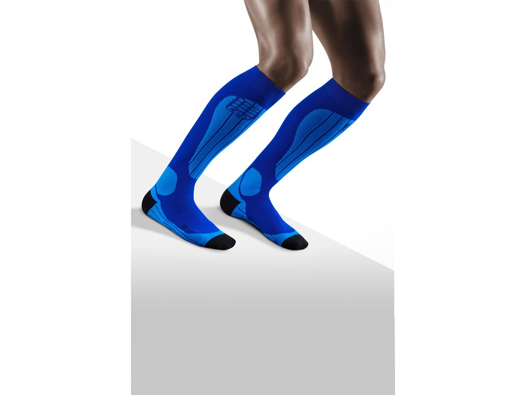 Ski Thermo Socks blue azure m front model 1536x1536px
