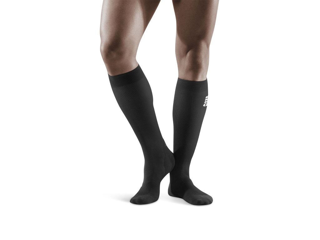 Socks for Recovery black m front model 1536x1536px