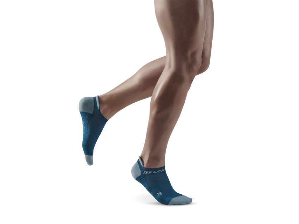 Compression No Show Socks 3 0 blue grey m front model 1536x1536px