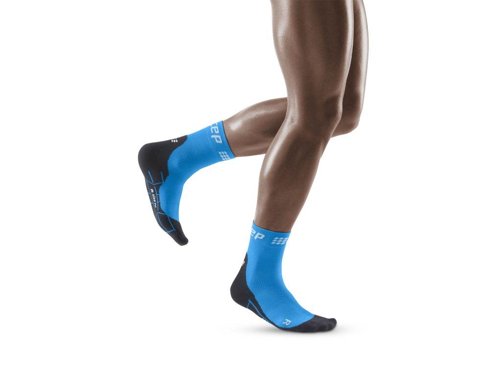 Winter Run Short Socks electricblue black m front model 1536x1536px