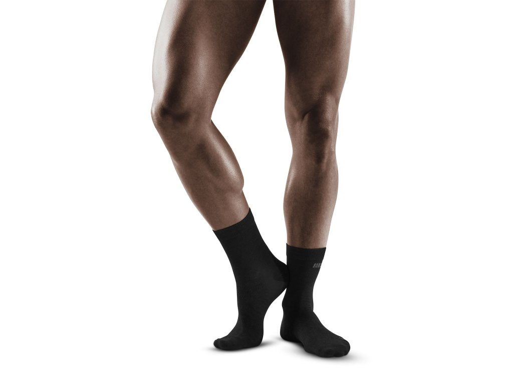 Allday Recovery Mid Cut Socks anthracite m front model 1536x1536px