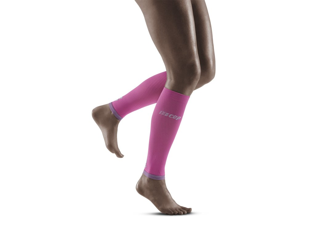 Ultralight Calf Sleeves electricpink lightgrey w front model 1536x1536px