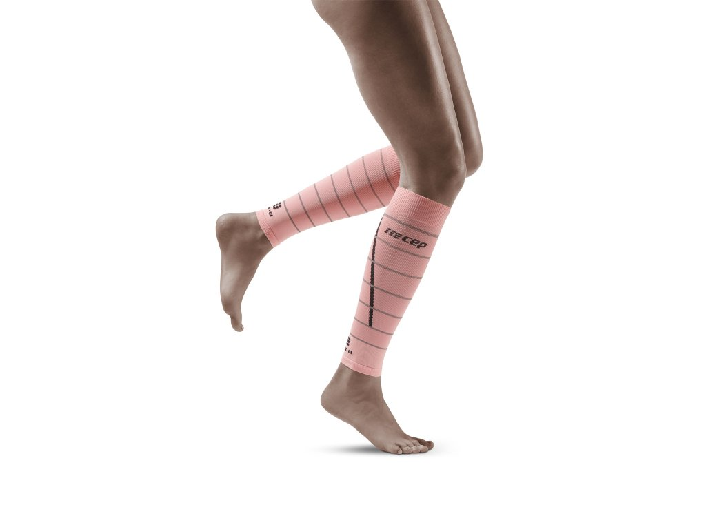 Reflective Calf Sleeves lightrose w front model 1536x1536px