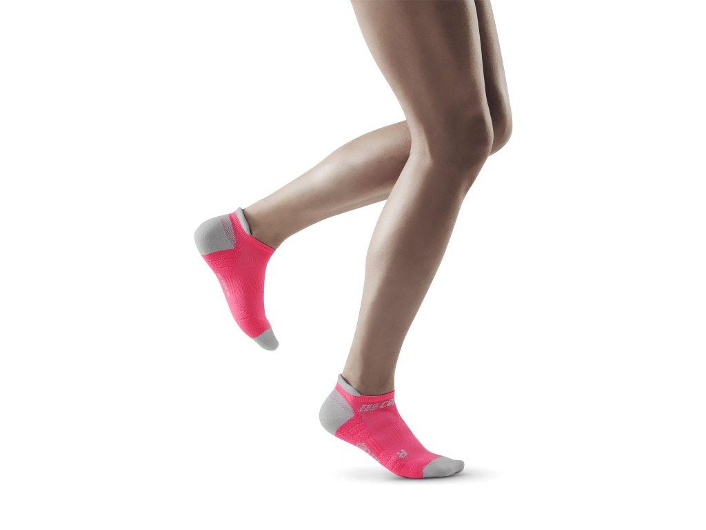 Compression No Show Socks 3 0 rose lightgrey w front model 1536x1536px