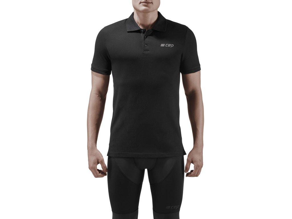 Brand Poloshirt black m front model 1536x1536px