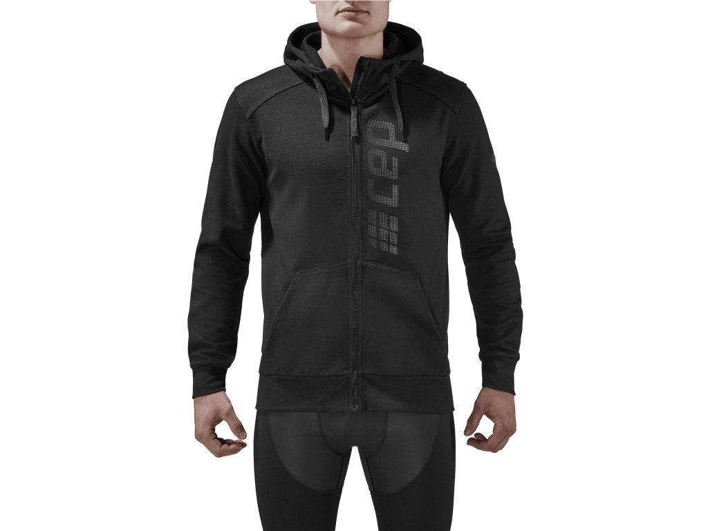 Brand Zip Hoody black m front model 1536x1536px