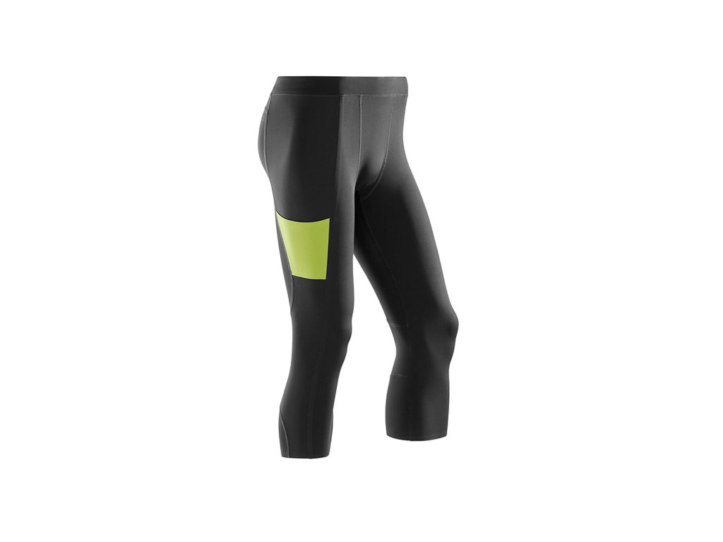 CEP Performance 3 4 Tights black lime m front 1536x1536px
