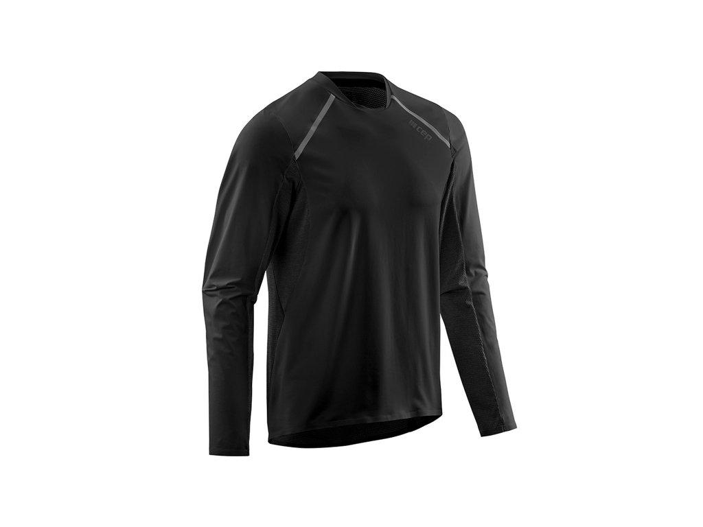 Run Shirt Long Sleeve black m front 1536x1536px