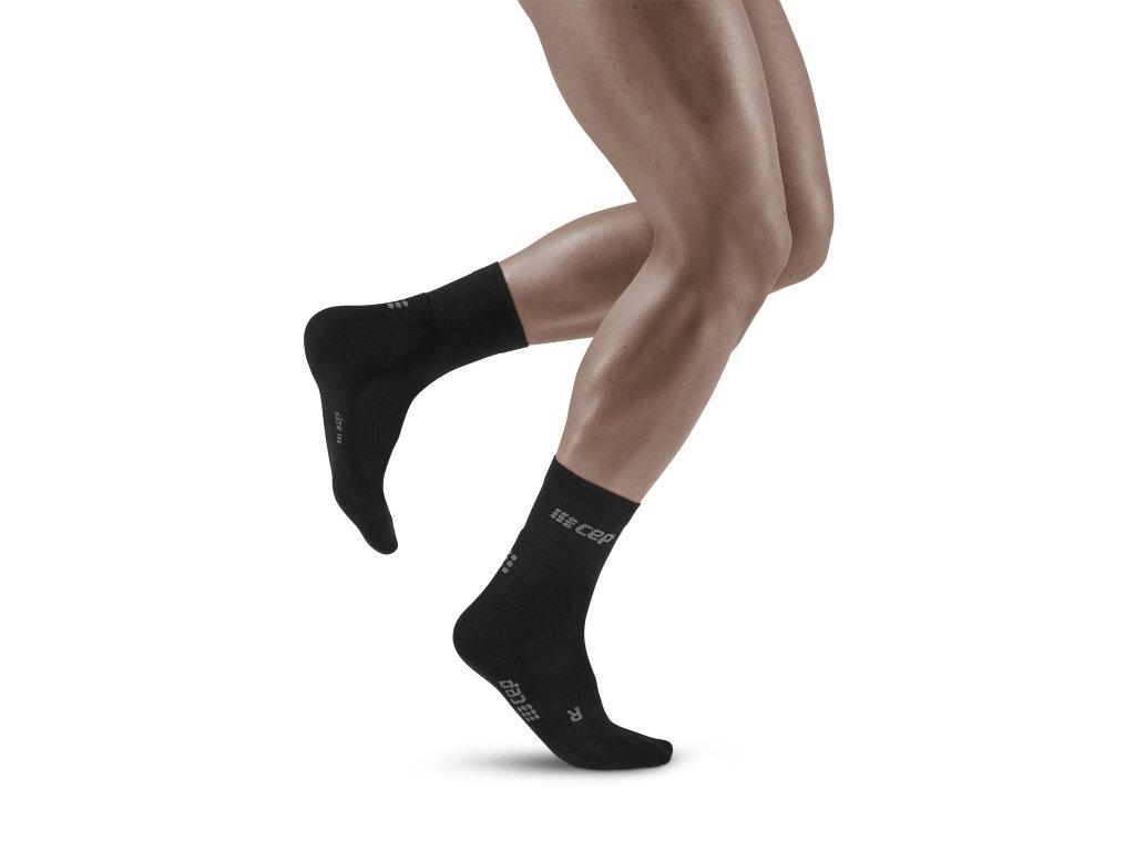 Cold Weather Mid Cut Socks black m front model 1536x1536px