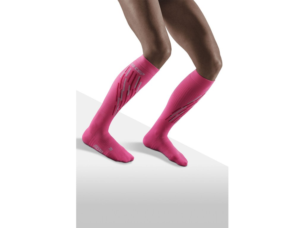 Ski Thermo Socks pink flashpink w front model 1536x1536px