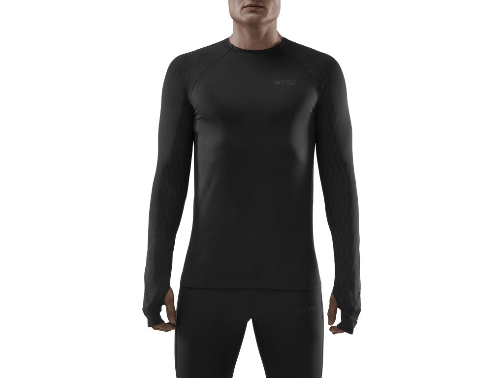 Cold Weather Shirt black m front model 1536x1536px