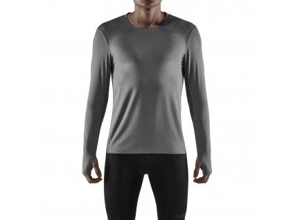 Run Shirt LS grey m front model 1536x1536px