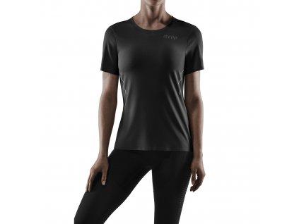 Run Shirt SS black w front model 1536x1536px