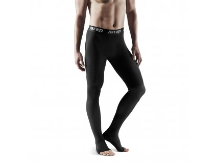 Recovery Pro Tights black m front model 1536x1536px