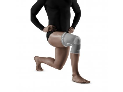 Knee Sleeve anthracite grey m front model 1536x1536px