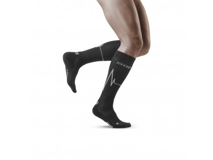Heartbeat Socks dark clouds m front model 1536x1536px