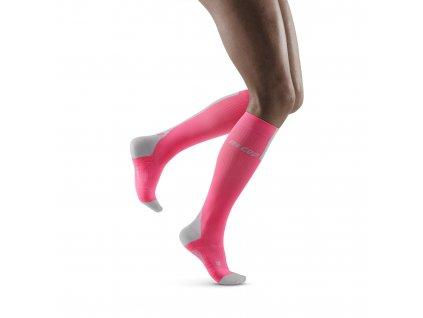 Run Compression Socks 3 0 rose lightgrey w front model 1536x1536px