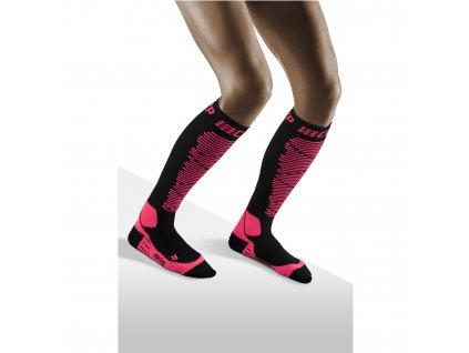 Ski Merino Socks black pink w front model 1536x1536px