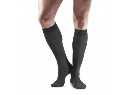 Business Socks black m front model 1536x1536px