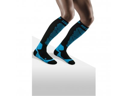 Ski Merino Socks black blue m front model 1536x1536px