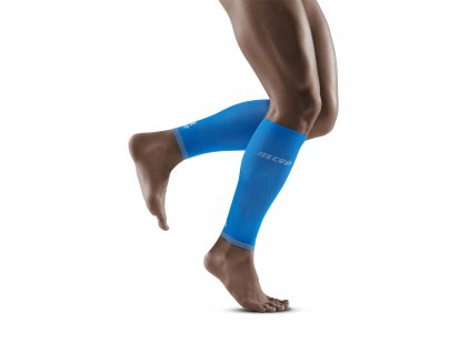 Ultralight Calf Sleeves electricblue lightgrey m front model 1536x1536px