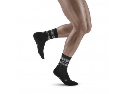 Animal Mid Cut Socks black white m front model 1536x1536px