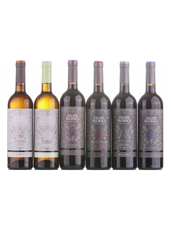 sada odrůdových vín Filipe Palhoca