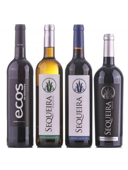 sada červených vín z Doura z vinařství Sequeira