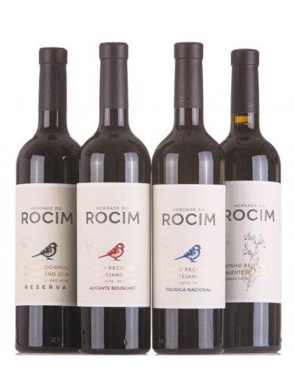 sada červených vín Rocim