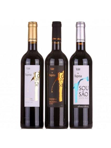 sada perfektních červených vín Valde da Raposa Douro