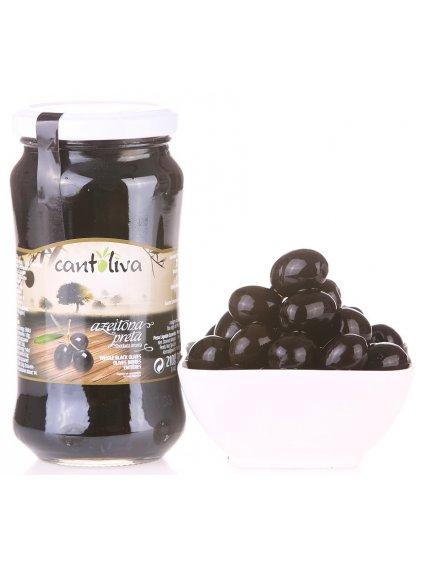 černé olivy s peckou Cantoliva
