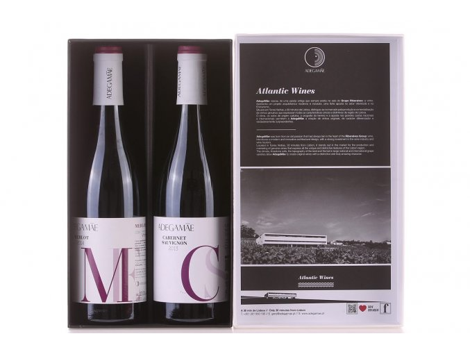 sada vína Merlot a Cabernet Sauvignon
