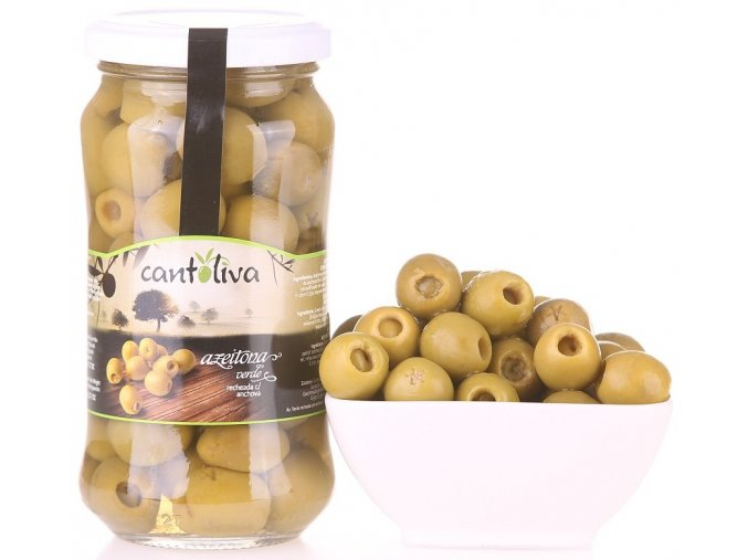 Olivy zelené plněné ančovičkou 360g