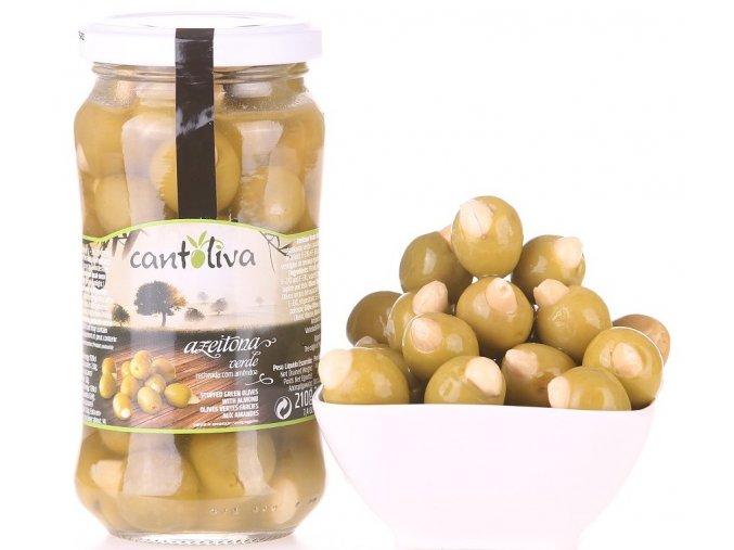Olivy zelené plněné mandlí 360g